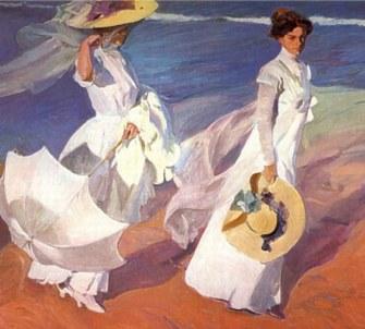 Paseo a orillas del mar - 1909