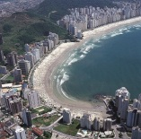 Playa de Asturias y Pitangueiras aérea - Guarujá